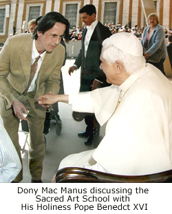 Dony Mac Manus with His Holiness Pope Benedict XVI